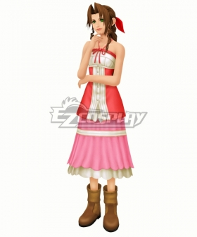 Kingdom Hearts II Aerith Gainsborough Cosplay Costume