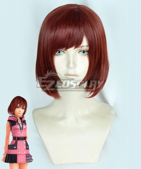 Kingdom Hearts III Kairi Red Brown Cosplay Wig