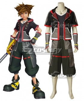 Kingdom Hearts III Kingdom Hearts 3 Sora New Edition Cosplay Costume - A Edition