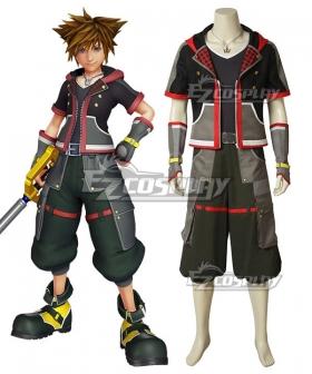 Kingdom Hearts III Kingdom Hearts 3 Sora New Edition Cosplay Costume - A Edition