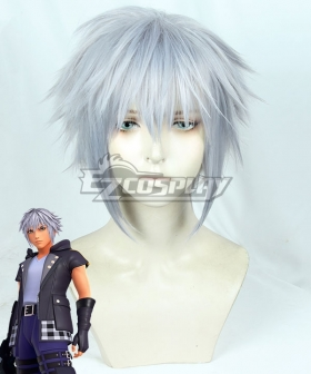 Kingdom Hearts III Riku Silver Grey Cosplay Wig