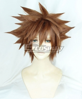 Kingdom Hearts III Sora Brown Yellow Cosplay Wig