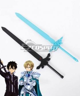 Sword Art Online: Alicezation Kirigaya Kazuto Kirito Eugeo Two Sword Cosplay Weapon Prop