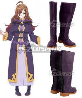 Kono Subarashii Sekai Ni Shukufuku O Wiz Purple Shoes Cosplay Boots