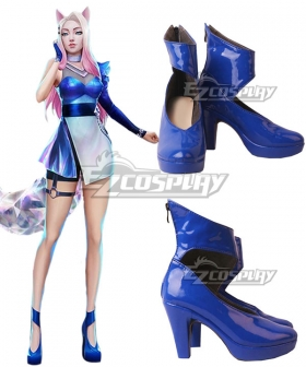 League Of Legends LOL 2020 K/DA KDA All Out Ahri Blue Cosplay Shoes