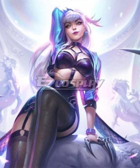 League Of Legends LOL 2020 K/DA KDA All Out Evelynn Halloween Cosplay Costume