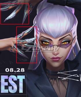 League Of Legends LOL 2020 KDA K/DA Evelynn Nails Accessory Prop