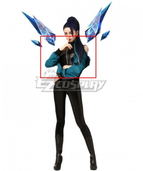 League Of Legends LOL 2020 KDA K/DA THE BADDEST Kai'Sa Kaisa Cosplay Costume - Only Coat, Top, Belt