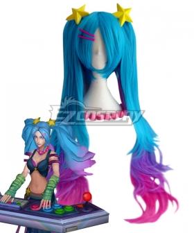 League of Legends LOL Arcade Sona Blue Cosplay Wig