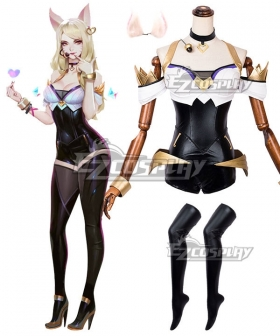 League Of Legends LOL K/DA Ahri New Edition Cosplay Costume - Including Ears and Headset