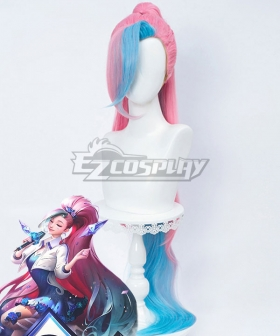League Of Legends LOL K/DA ALL OUT Seraphine Rising Star Pink Cosplay Wig