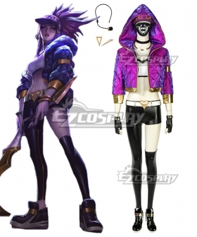 League Of Legends LOL KDA K/DA Akali Cosplay Costume