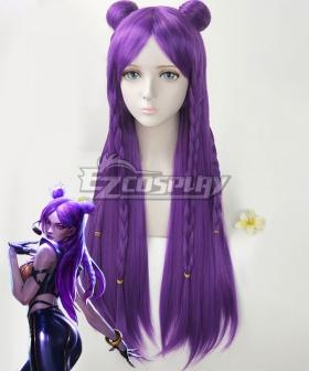 League Of Legends LOL KDA K/DA Kai'Sa Dark Purple Cosplay Wig