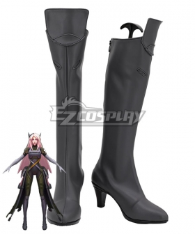 League of Legends LOL Psyops Sona Grey Shoes Cosplay Boots
