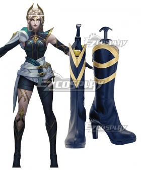 League of Legends LOL Sentinel Diana Blue Shoes Cosplay Boots