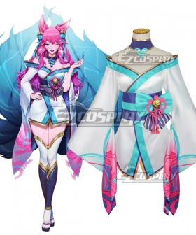 League of Legends LOL Spirit Blossom Ahri Cosplay Costume