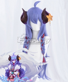 League of Legends LOL Spirit Blossom Kindred Purple Cosplay Wig