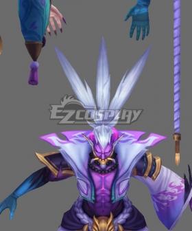 League of Legends LOL Spirit Blossom Thresh Silver Cosplay Wig