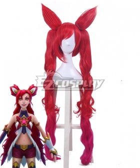 League Of Legends LOL Star Guardian Jinx The Loose Cannon Red Cosplay Wig