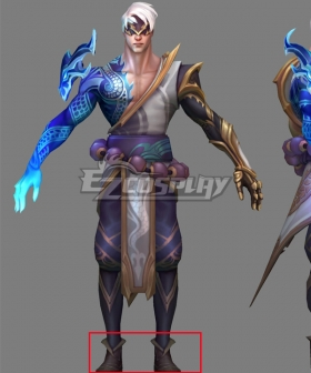 League Of Legends LOL Storm Dragon Lee Sin Black Shoes Cosplay Boots