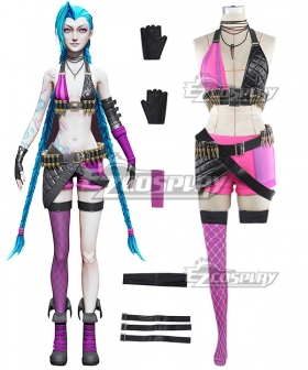 League Of Legends LOL Loose Cannon Jinx Cosplay Costume