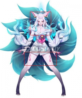 LOL League of Legends Ahri Spirit Blossom Tattoo Stickers Cosplay Accessory Prop