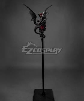 Lolita Series Halloween Magic Wand Devil Dragon Rose Cosplay Weapon Prop
