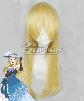 Love Live! Lovelive! Eli Ayase Ball Ver. Yellow Cosplay Wig