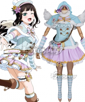 Love Live Sunshine 2018 Anime Aqours Dia Kurosawa Christmas Choir Uniform Cosplay Costume