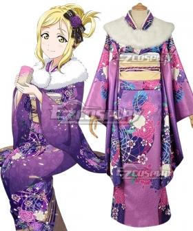 Love Live! Sunshine!! New Year Kimono Mari Ohara Cosplay Costume