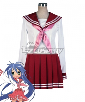 Lucky Star Konata Izumi Winter School Uniform Cosplay Costume