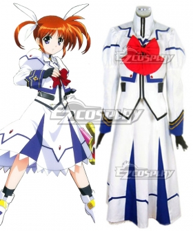 Magical Girl Lyrical Nanoha Nanoha Takamachi Battle Suit Cosplay Costume