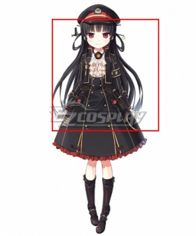Maitetsu:Pure Station Hachiroku Black Cosplay Wig