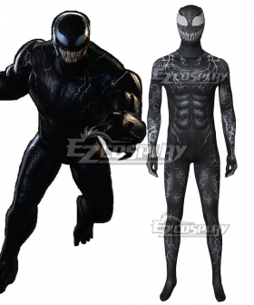 Marvel 2018 Movie Venom Edward Eddie Brock Zentai Jumpsuit Cosplay Costume