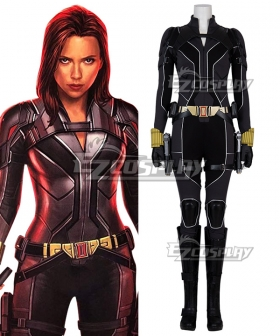 Marvel 2020 Movie Black Widow Natasha Romanoff Suit Cosplay Costume Black Edition