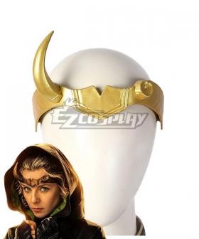 Marvel 2021 Loki Sylvie Lushton Lady Loki Horn Mask Halloween Cosplay Accessory Prop