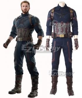 Marvel Avengers 3: Infinity War Captain America Steven Rogers Cosplay Costume