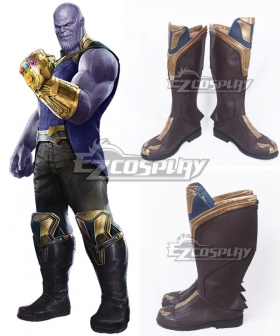 Marvel Avengers 3: Infinity War Thanos Black Shoes Cosplay Boots