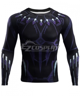 Marvel Avengers 4: Endgame T'Challa Black Panther Long T-Shirt Cosplay Costume