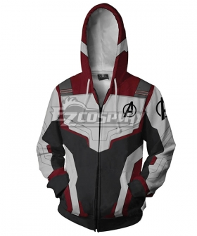 Marvel Avengers: Endgame Avengers Superhero The Quantum Realm Black Widow Coat Hoodie Cosplay Costume