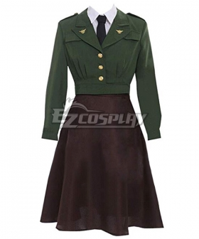 Marvel Captain America Peggy Carter B Edition Cosplay Costume