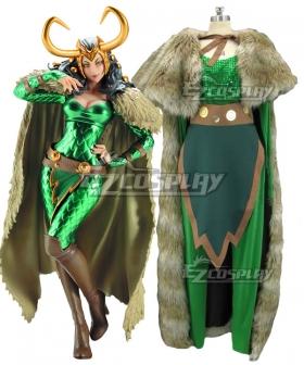 Marvel Comic Lady Loki Cosplay Costume