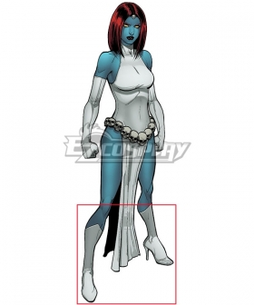 Marvel Comics X-Men Classic Mystique White Shoes Cosplay Boots
