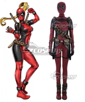 Marvel Deadpool Lady Wade Wilson Female Cosplay Costume
