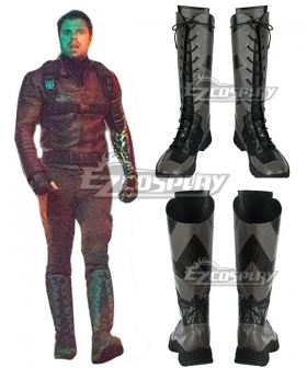 Marvel The Falcon and the Winter Soldier Bucky Barnes Black Shoes Cosplay Boots