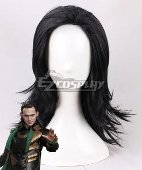 Marvel Thor 2: The Dark World Loki Black Cosplay Wig