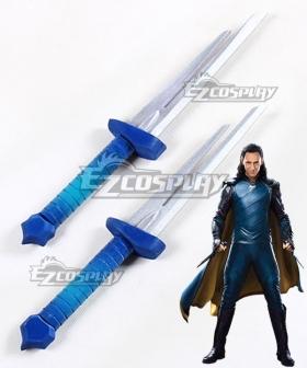 Marvel Thor: Ragnarok Loki Laufeyson Two Daggers Cosplay Weapon Prop