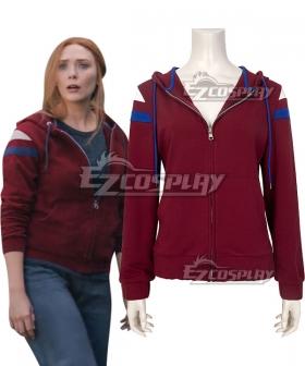Marvel Wanda Vision Wanda Maximoff Red Hoodie Cosplay Costume