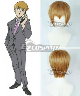 Mob Psycho 100 Arataka Reigen Golden Cosplay Wig