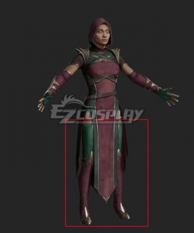Mortal Kombat 11 Jade Red Green Shoes Cosplay Boots